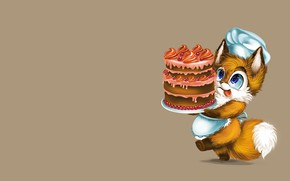 Picture cake, cook, Fox