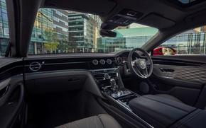 Picture Bentley, salon, Flying Spur, 2020, V8, 2021, Flying Spur V8