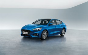 Picture blue, China, Ford, Focus, Edge, Sedan, 2019
