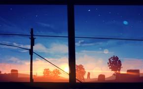 Picture the sun, sunset, window