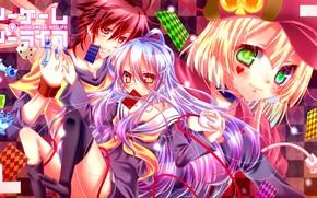 Picture Game, anime, art, No Game No Life, No Game No Life
