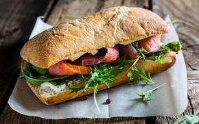 Picture fish, bread, sandwich