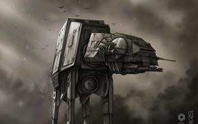 Picture Star Wars, Art, AT-AT, Fanart, StarWars, AT-AT Walker, by Shane Molina, Shane Molina