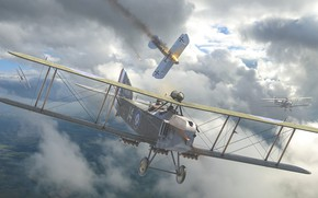Picture Biplane, Bomber, military aircraft, Armstrong Whitworth F.K.8