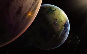 Picture Stars, Planet, Space, Planet, Planets, Art, Stars, Space, Art, Satellite, Planet, Asteroids, Illustration, Concept Art, …