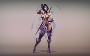 Picture Minimalism, Art, Mortal Kombat, Kitana, Illustration, by Zenda Naar, MK World - Kitana, Zenda To