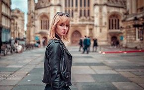 Picture girl, street, the building, area, Pippa, Oliver Gibbs