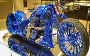 Picture Harley-Davidson, chopper, Bucherer, Harley-Davidson Blue Edition