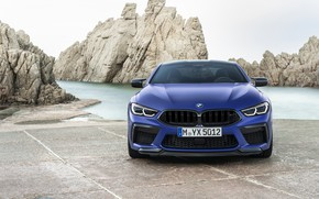 Picture BMW, supercar, front view, Coupe, Competition, 2019, BMW M8, F92