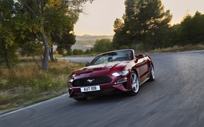 Picture Ford, turn, convertible, 2018, dark red, Mustang Convertible