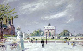 Picture picture, Tuileries, the urban landscape, Lucien Adrion, Lucien Adrion