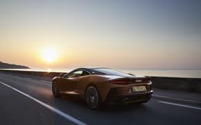Picture sunset, McLaren, speed, supercar, 2019, McLaren GT
