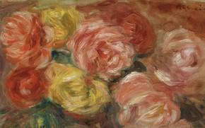 Picture picture, 1918, Pierre Auguste Renoir, Pierre Auguste Renoir, Still life with Roses