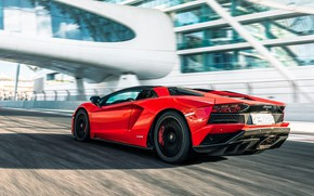 Picture Roadster, speed, Lamborghini, supercar, Aventador, Aventador S, 2019