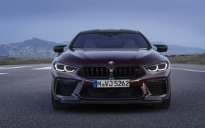 Picture coupe, BMW, front view, 2019, M8, the four-door, M8 Gran Coupe, M8 Competition Gran Coupe, …