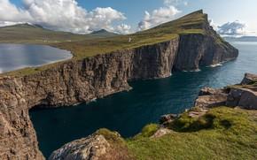 Picture photo, Nature, Lake, Rock, Denmark, Moss, Faroe Islands, Lake Sørvágsvatn