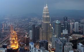 Picture the city, fog, mediocrity, building, Malaysia, Kuala Lumpur