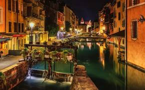 Picture night, the city, home, lights, Italy, Venice, channel, Александр Безмолитвенный