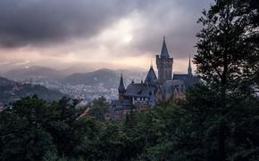Picture the city, castle, Germany, Germany, Castle, Wernigerode, Wernigerode Castle