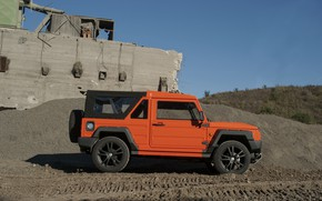 Picture orange, traces, SUV, ruins, 2011, 4x4, Travec, Tecdrah Integrale 1.5 TTi, Renault/Dacia Duster, frame