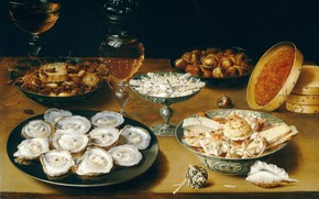 Picture Osias Beert, Still life with oysters, Osias Burt Senior, Flemish painter, Flemish painter, Osias Beert ...