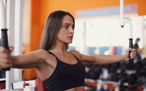 Picture girl, young, pose, workout, fitness