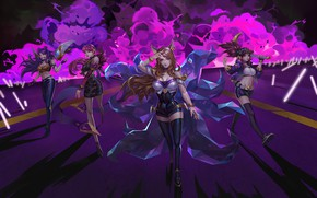 Picture Akali, Ahri, Evelynn, League Of Legends, Kai'Sa