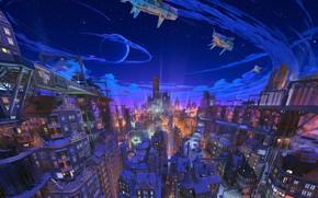 Picture Night, The city, Fantasy, arsenixc