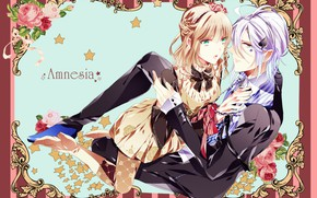 Picture girl, anime, art, pair, guy, Amnesia, AMNESIA