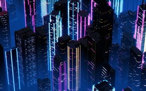 Picture Night, Music, The city, Neon, Background, Neon, Synth, Retrowave, Synthwave, New Retro Wave, Futuresynth, Sintav, …