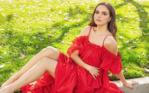 Picture girl, pose, photo, hair, dress, legs, beauty, Bailee Madison