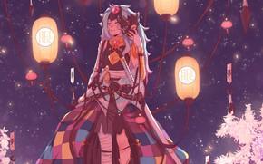 Picture Night, Fantasy, Samurai, Fantasy, Katana, Samurai, Illustration, Athena, Lanterns, Characters, Characters, Katana, Illustration, Aesthetics, Aesthetics, …