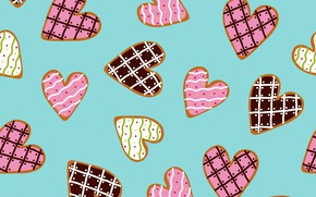 Picture background, vector, cookies, hearts