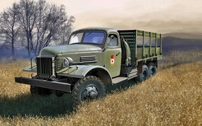 Picture USSR, truck, Terrain, car for military purposes, ZiS-151