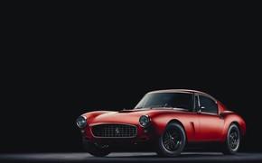 Picture Red, Auto, Minimalism, Machine, Ferrari, Rendering, Concept Art, Vehicles, Ferrari 250 GT, Ferrari 250, Transport, …
