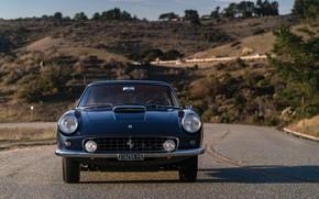 Picture Road, Ferrari, Lights, Classic, Chrome, Classic car, Icon, Grille, Ferrari 400 Superamerica, The Short Wheelbase …