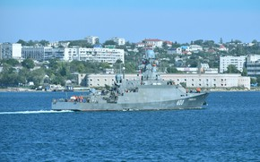 Picture ship, rocket, small, Sevastopol, Грайворон
