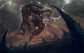 Picture Monster, Zipper, The demon, Fiction, Illustration, Demon, Characters, Lovecraft, Creatures, Walter Brocca, by Walter Brocca, …