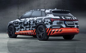 Picture background, Audi, side view, 2018, E-Tron Prototype