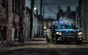 Picture muscle, waiting for, dodge, police, charger, gateway, COP, pursuit
