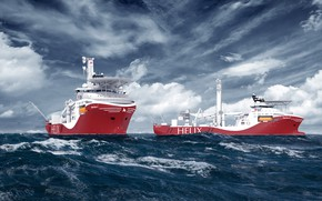 Picture The ocean, Sea, The ship, Rendering, Helix, Two, Vessel, Offshore, Siem Helix, Siem, Offshore AS, …