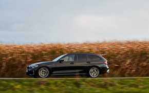 Picture black, BMW, side view, 3-series, universal, 3P, 2020, 2019, G21, M340i xDrive Touring