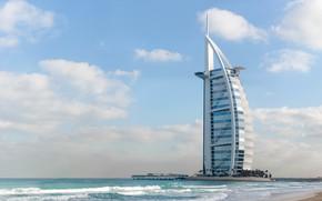 Picture Beach, The city, House, Bay, City, House, Dubai, Architecture, Dubai, The hotel, Burj Al Arab, …