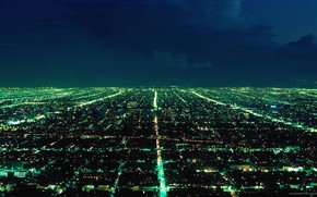 Picture light, night, the city, lights, megapolis