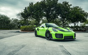 Picture Porsche, Green, 991, VAG, Sight, GT2RS