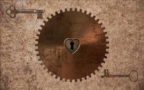 Picture rust, gear, steampunk, keys, steampunk, by Pyrus-acerba