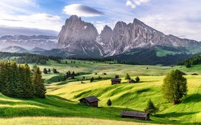 Picture mountains, Italy, The Dolomites, Dolomite Alps, The Alpe di Siusi