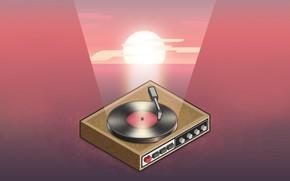 Picture The sun, Minimalism, Music, Vinyl, Style, Background, Art, Art, 80s, Style, Neon, Background, Illustration, Minimalism, …