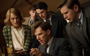Picture girl, people, guys, Benedict Cumberbatch, Benedict Cumberbatch, 2014, The Imitation Game, The imitation game