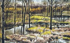 Picture 1938, Charles Ephraim Burchfield, Swamp Pools